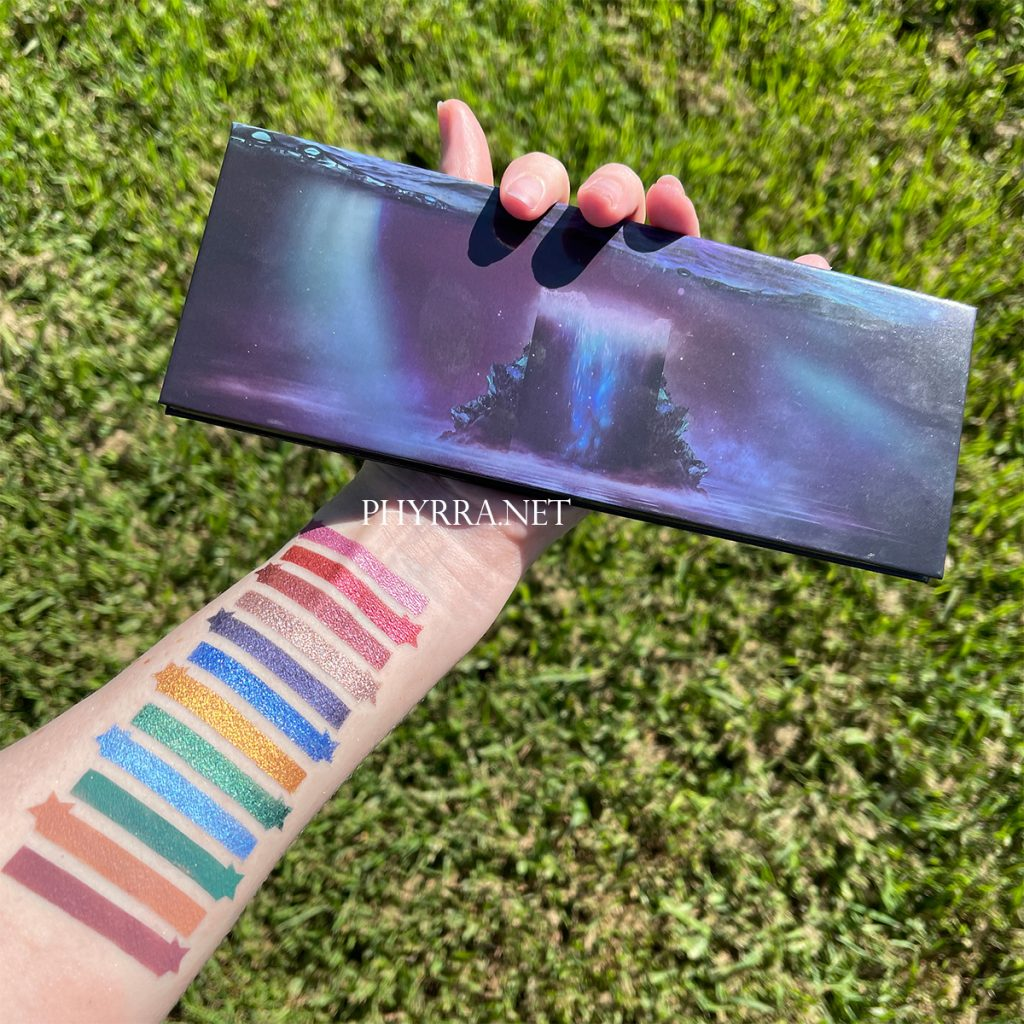 Sydney Grace Co Radiant Reflection Palette Swatches on Very Fair Skin